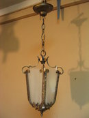 Vintage Solid Brass Hanging Fixture