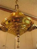 2-Lite Hanging Brass Chandelier