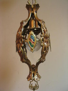 Single Hanging fixture All Brass 1920's