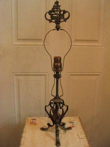 Vintage Table Lamp Cast Iron