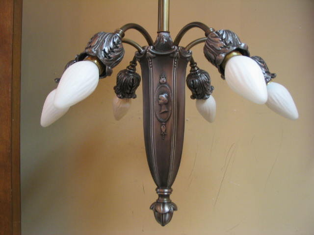 Antique 6 arm Chandelier