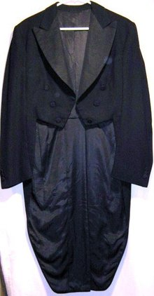 Civil War Era Frock Tail Coat Black Wool