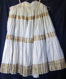 Western Fiesta Broomstick Skirt Mid Century