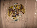 Mexican Silk Shirt Embroidered Eagle