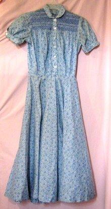 Vintage Calico Dress Depression Era