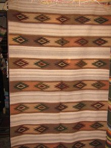 Taos Rug Native American Zapotec Wool