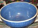 Antique Pottery Blue Bowl Fence Design