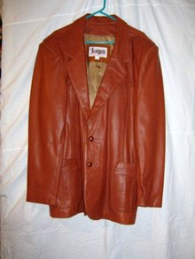 Western Diamond Leather 48 Long Jacket