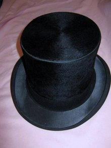 Victorian Edwardian Beaver Top Hat