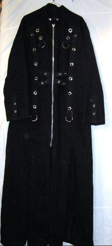 Western Black Tripp Duster Coat NYC
