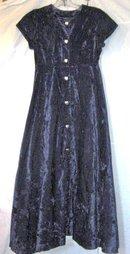 Native American Crushed Velvet Dress