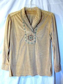Plains Indian Embroidered Velvet Shirt