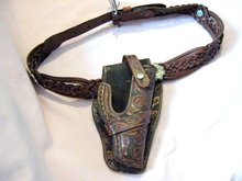 Western Antique Hand Tooled Holster Victorian