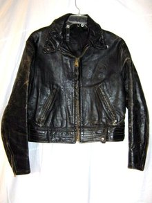 Motorcycle Horsehide Jacket Antique Policeman