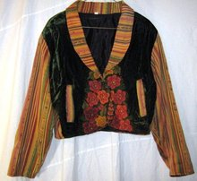 Vintage Tapestry Boho Bolero Jacket