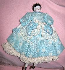 China Head Doll Small Vintage Clothing