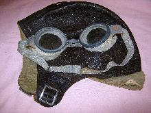 WWI Flying Goggles Leather Helmet