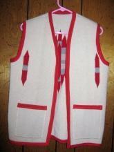 Chimayo Vest Ca.1900 Red/White Antique