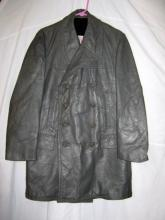 German Leather Navy Officers Coat WWII