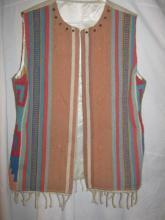 Navajo Handwoven Antique Wool Vest