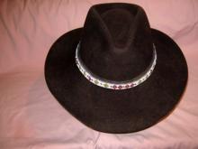 Western Wool Stetson Hat Apache Band