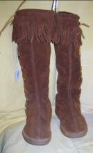 Indian Knee High Moccasins Minnetonka