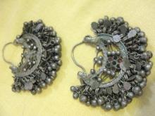 Belly Dancer Earrings Silver Antique