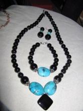 Jewelry Navajo Bisbee Turquoise Set