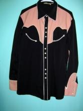 Western Scully Cowboy Bowling Shirt