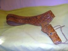 Gun Holster Mid Century Hand Tooled