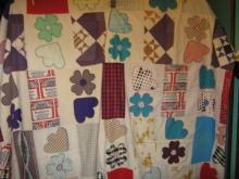 Quilt Mid Century Top Twin Quilt Buttonhole Applique