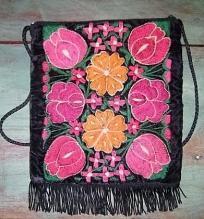 Indian Cheyenne Embroidered Velver Purse