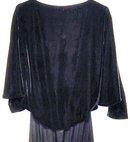 Antique Black Silk Velvet Dress 1920