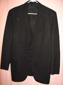 Victorian Suit Coat Black Wool Jacket