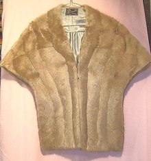 Mink Stole Natural Grey Mid Century