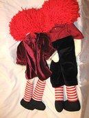 Raggedy Ann/Andy Cloth Dolls Antique