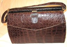 Alligator Handbag Depression Era 1930