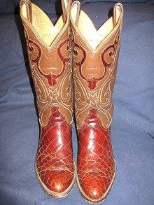 Tony Lama Alligator Cowboy Boots