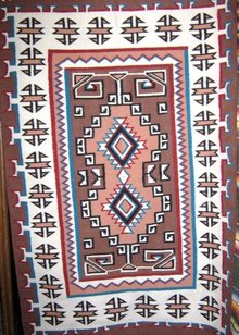 Navajo Two Grey Hills Hand woven  Rug