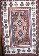 Navajo Two Grey Hills Hand woven  Rug