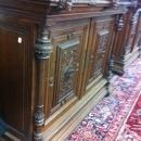 TWO CARVED BUFFET CABINETS