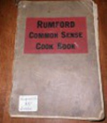 Vintage Rumford Common Sence Cookbook