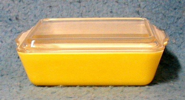 Refrigerator dish yellow with lid B2235