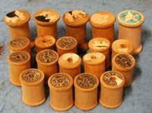 Wooden Thread Spools B2292