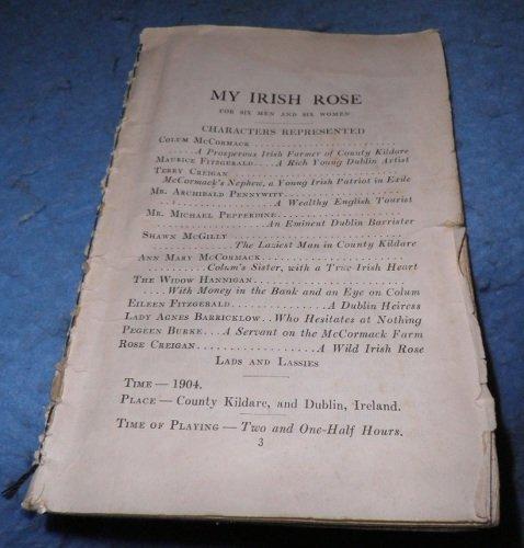 Play Book - My Irish Rose Play