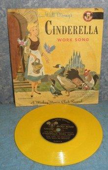 Record 78rpm Walt Disney's Cinderella Work Song B4971