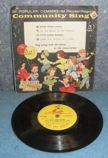 Record 78rpm Community Sing