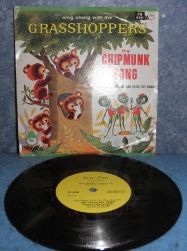 Record 78rpm Chipmunk Song B4981