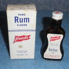 Bottle French's Pure Rum Flavor