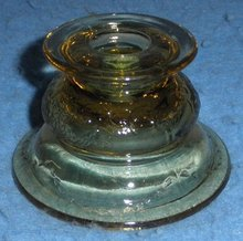Candle Holder Amber